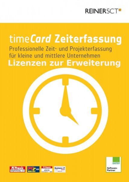 Reiner SCT timeCard 6 Zeiterfassung ERWEITERUNG für 25 Mitarbeiter, ESD