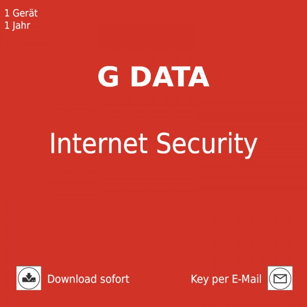 G DATA Internet Security 2019, 1 PC, 1 Jahr, Download