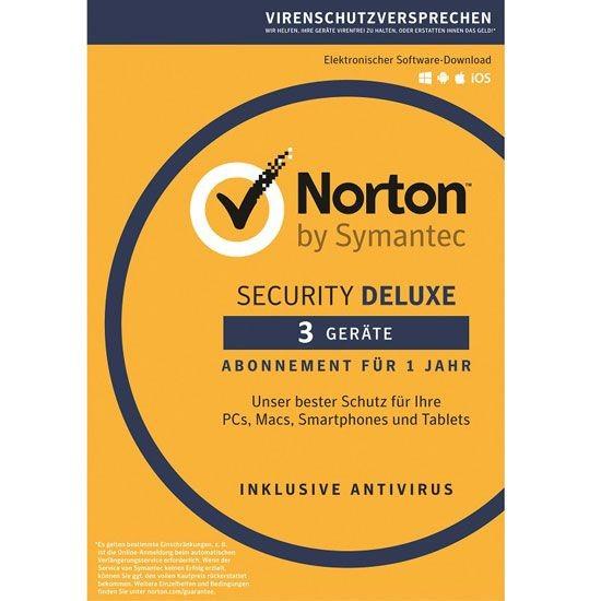 NORTON SECURITY Deluxe 3.0, 3 Geräte, Box (Card Case)